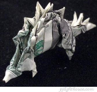 money-origami-dinosaur