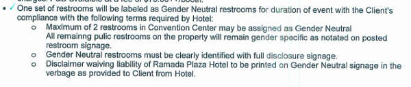 Gender-neutral restroom agreement
