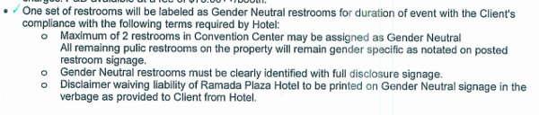 Gender-neutral restroom agreement