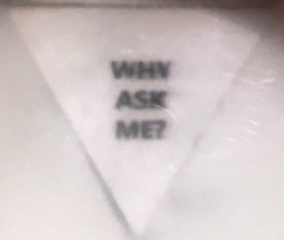 WHY ASK ME?